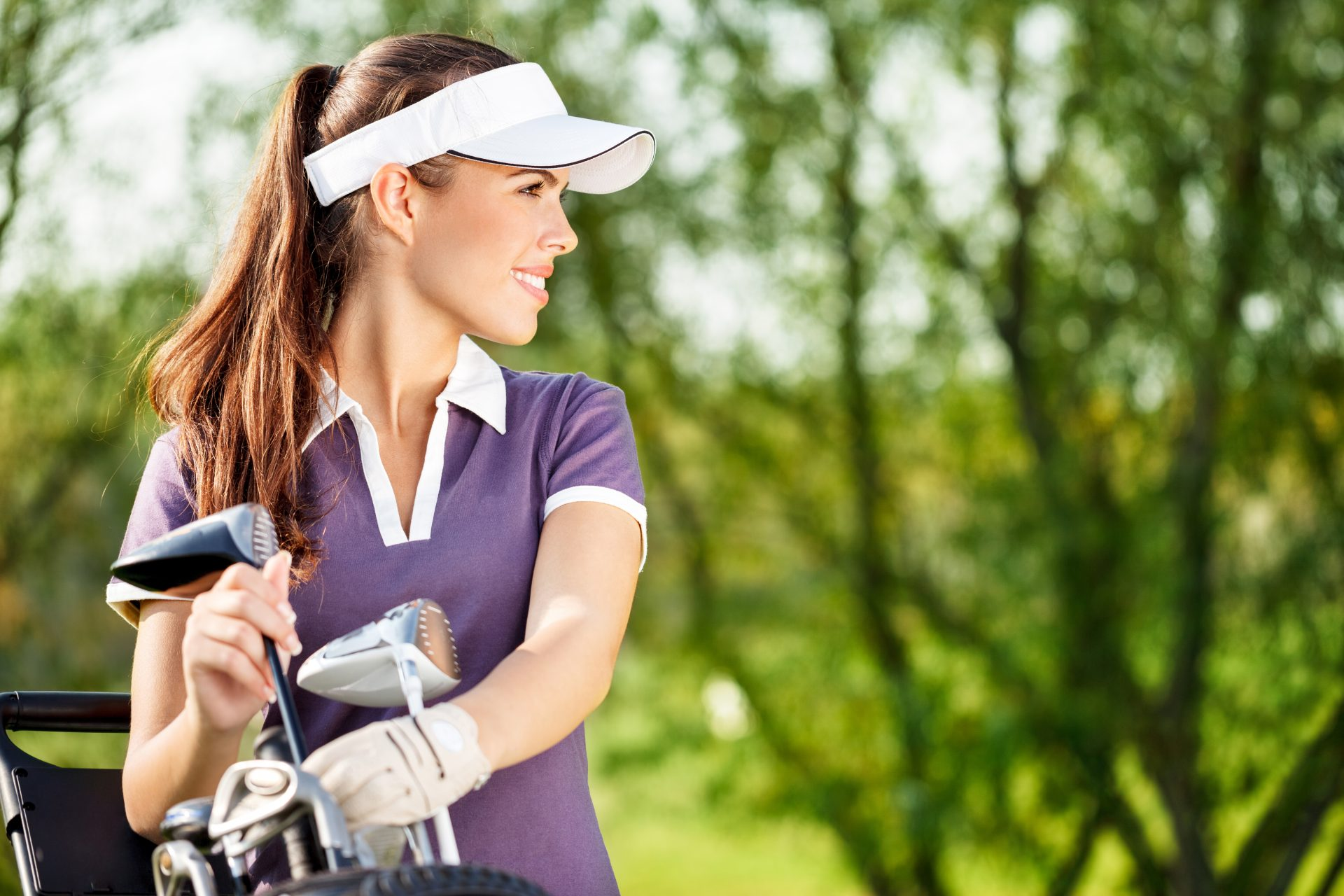 Woman on Victoria Park Golf Course in Guelph