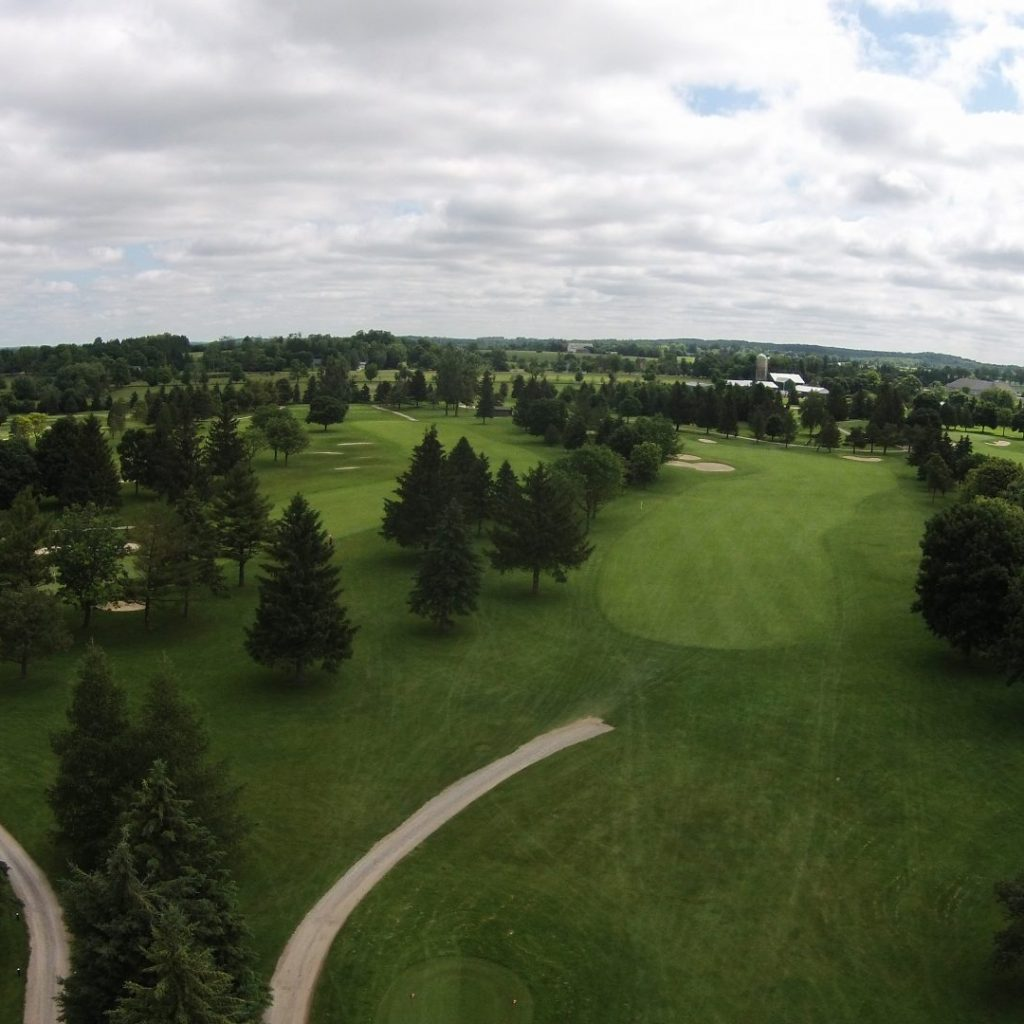 Aerial view of Victoria Park Guelph golf course