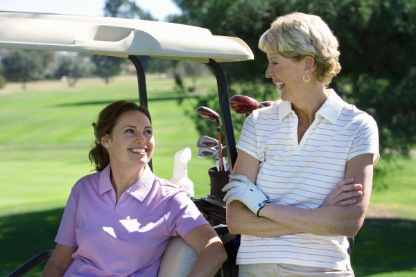 Two women golfing at Victoria Park Golf Club in Guelph