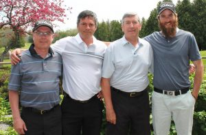 Chuck Ed Allan and Matt May Field Day winners at Victoria Park East Golf Club