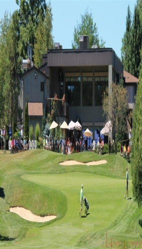 Clubhouse and Patio from the 18th fairway Victoria Park East Golf Club Guelph