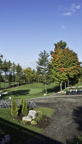 Practice Green and path to Driving Range at Victoria Park Valley Golf Club Guelph