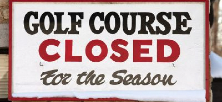 Golf Courses are Closed